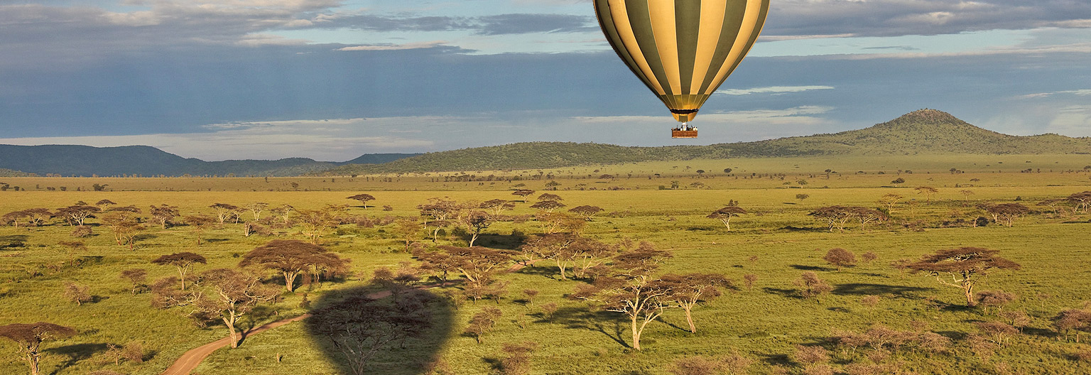 Serengeti National Park as seen from the hot-air balloon