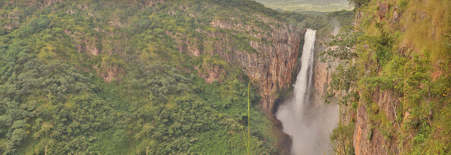 The Kalambo falls is the second highest un-interapted falls in Africa after South Africa Tugela falls