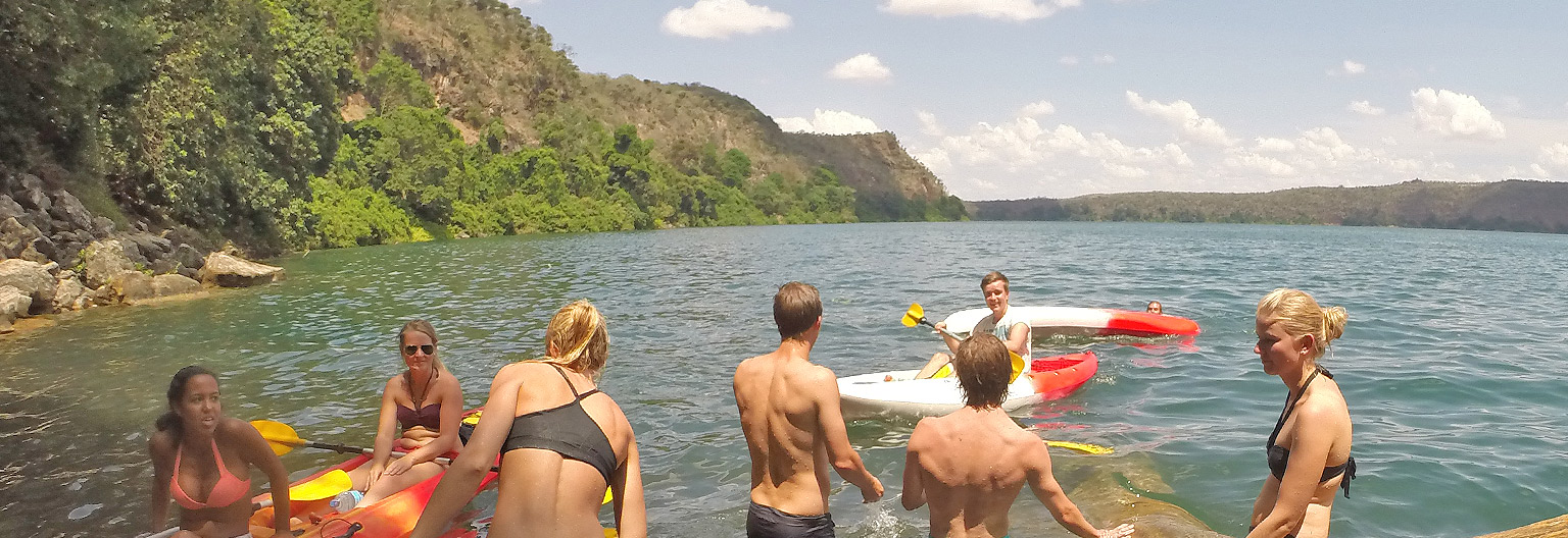 Lake Chala, swimming