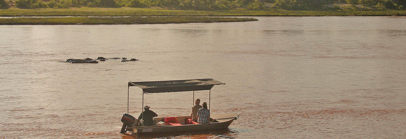 Boat Safaris in the river Ruaha