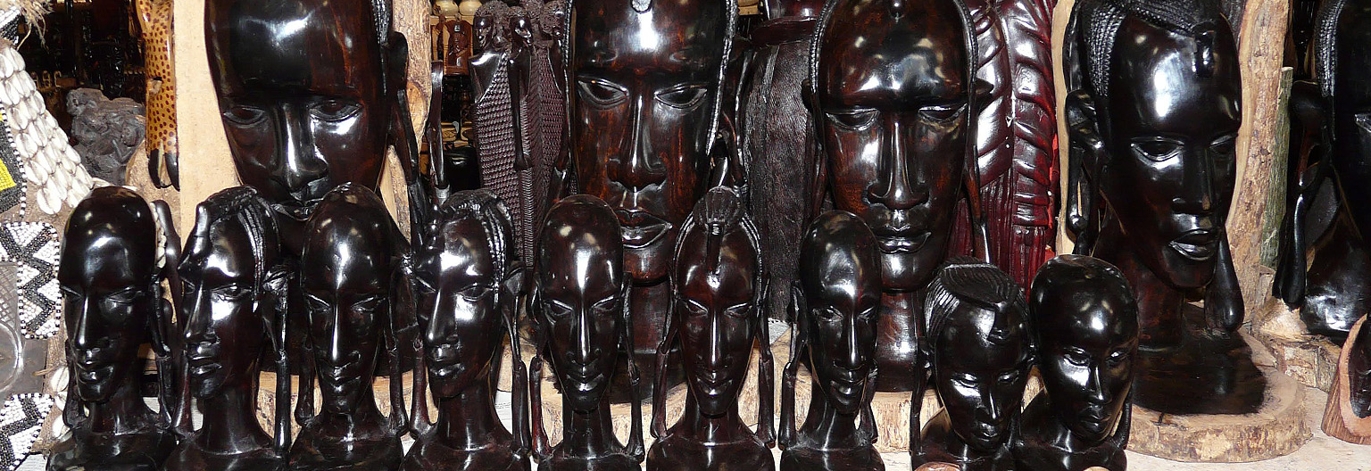 Curio shop with ebony scuptures